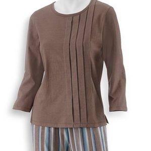 Serengeti Pleated Shirt w Striped Cotton Pants Lrg
